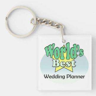World's meilleur Wedding planificateur Porte-clé Carré En Acrylique Une Face