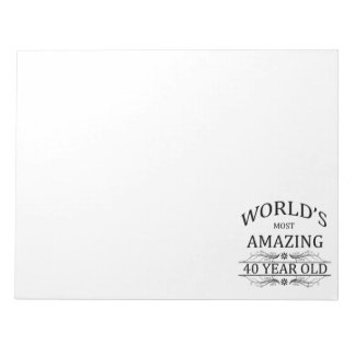 World's Most Amazing 40 Year Old Notepads