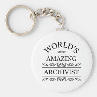 World's most amazing Archivist Basic Round Button Keychain