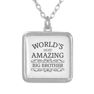 World's most amazing big brother silver plated necklace