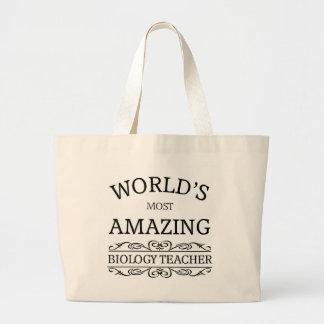 World's most amazing Biology Teacher Large Tote Bag