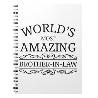 World's most amazing brother-in-law notebooks