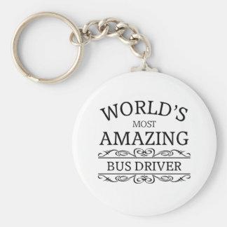 World's most amazing  Bus Driver Basic Round Button Keychain