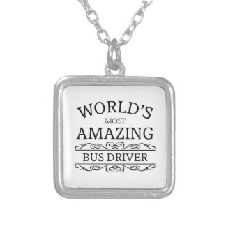 World's most amazing  Bus Driver Silver Plated Necklace