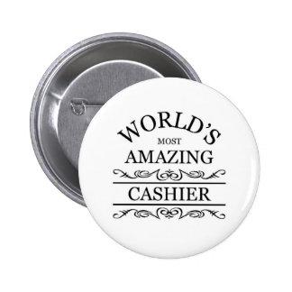 World's most amazing Cashier 2 Inch Round Button