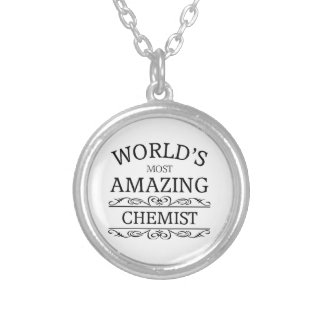 World's most amazing chemist silver plated necklace