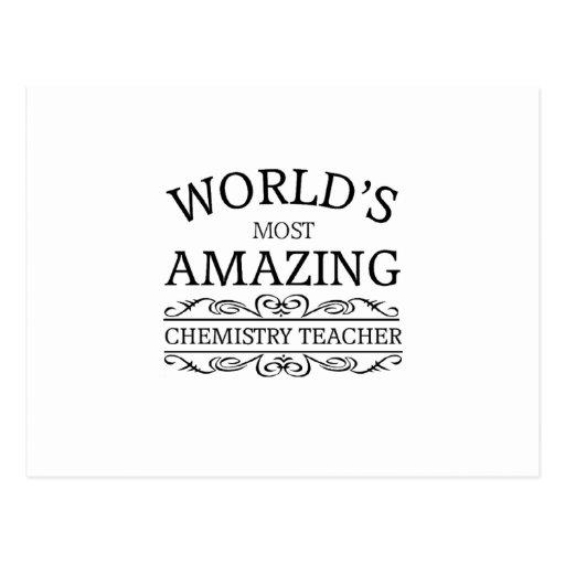 World's most amazing Chemistry Teacher Postcards