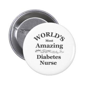 World's most amazing Diabetes Nurse 2 Inch Round Button