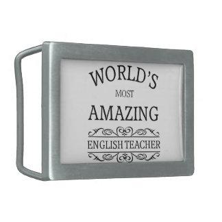 World's most amazing english teacher belt buckles