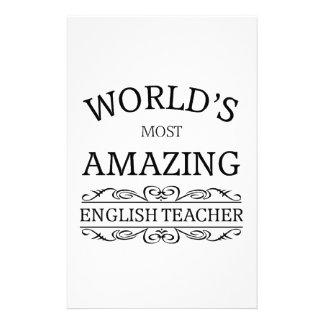 World's most amazing english teacher stationery