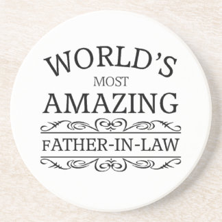 World's most amazing Father-in-law Beverage Coaster