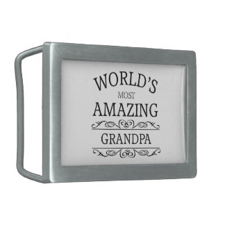World's most amazing Grandpa Belt Buckles