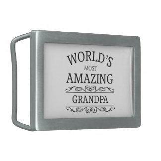 World's most amazing Grandpa Rectangular Belt Buckle