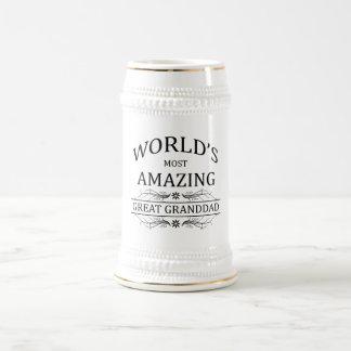 World's Most Amazing Great Granddad 18 Oz Beer Stein