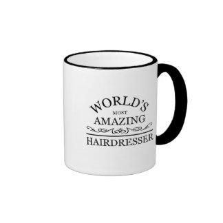 World's most amazing Hairdresser Ringer Mug