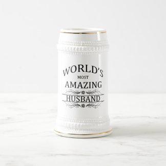 World's Most Amazing Husband 18 Oz Beer Stein