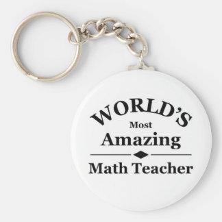 World's most amazing Math Teacher Keychain