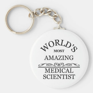 World's most amazing medical scientist basic round button keychain
