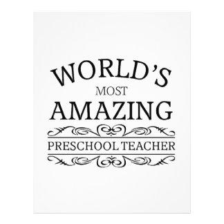 World's most amazing preschool teacher custom letterhead