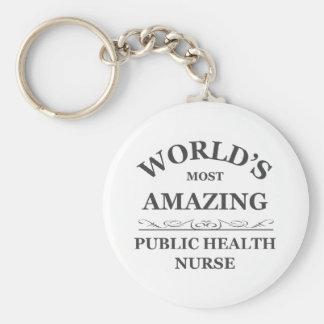 World's most amazing Public Health Nurse Basic Round Button Keychain