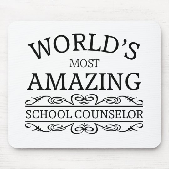 World's Most amazing school counsellor Mouse Pad