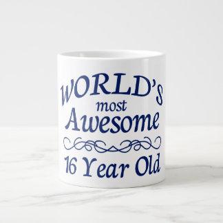 World's Most Awesome 16 Year Old Large Coffee Mug