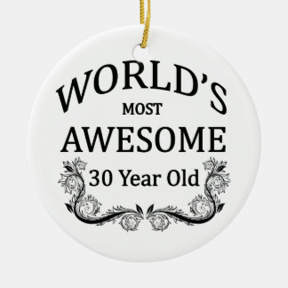 World's Most Awesome 30 Year Old Ceramic Ornament