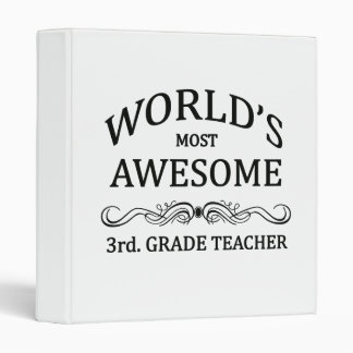 World's Most Awesome 3rd. Grade Teacher Binders