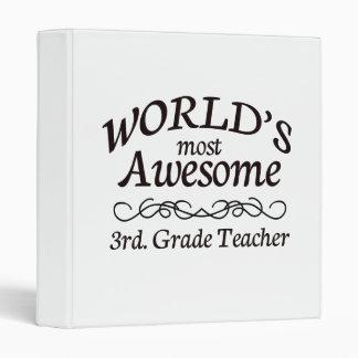World's Most Awesome 3rd. Grade Teacher Vinyl Binders