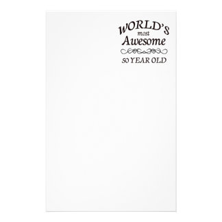 World's Most Awesome 50 Year Old Stationery Paper