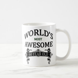 World's Most Awesome 60 Year Old Classic White Coffee Mug