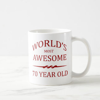 World's Most Awesome 70 Year Old Classic White Coffee Mug