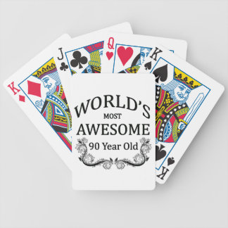 World's Most Awesome 90 Year Old Poker Deck