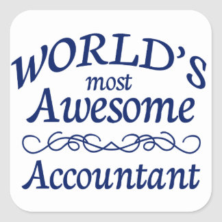 World's Most Awesome Accountant Square Sticker