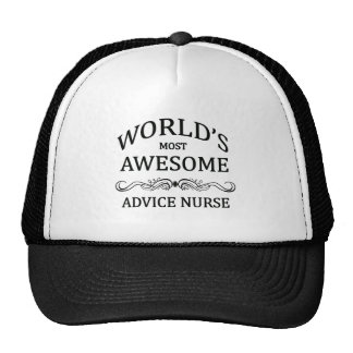 World's Most Awesome Advice Nurse Trucker Hat