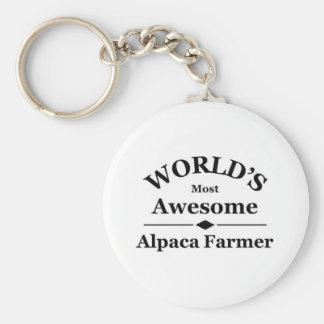 World's most awesome Alpaca Farmer Keychain