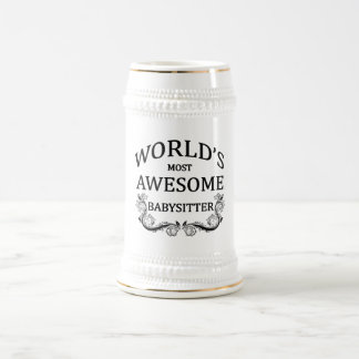 World's Most Awesome Babysitter Beer Steins