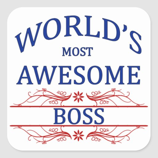 World's Most Awesome Boss Sticker