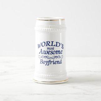 World's Most Awesome Boyfriend 18 Oz Beer Stein