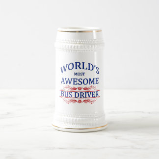World's Most Awesome Bus Driver 18 Oz Beer Stein
