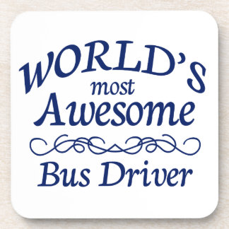 World's Most Awesome Bus Driver Drink Coasters