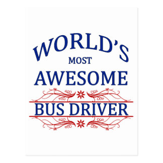 World's Most Awesome Bus Driver Postcards