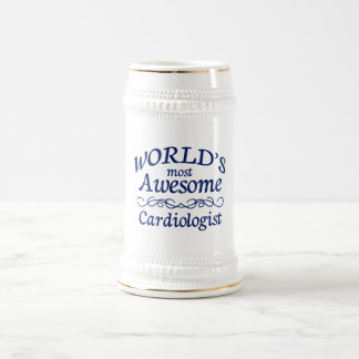 World's Most Awesome Cardiologist 18 Oz Beer Stein