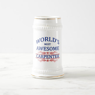 World's Most Awesome Carpenter Beer Stein