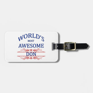 World's Most Awesome DON Bag Tag