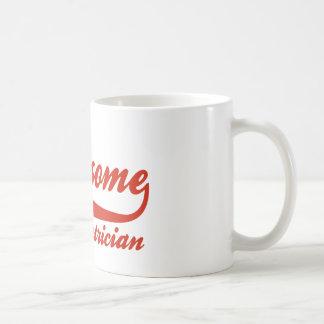 World's Most Awesome electrician Basic White Mug