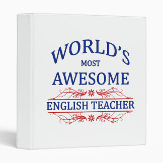 World's Most Awesome English Teacher 3 Ring Binders