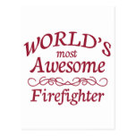 World's Most Awesome Firefighter Postcards