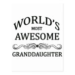 World's Most Awesome Granddaughter Postcards