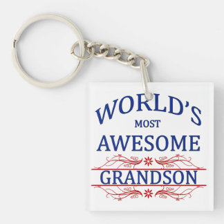 World's Most Awesome Grandson Keychain